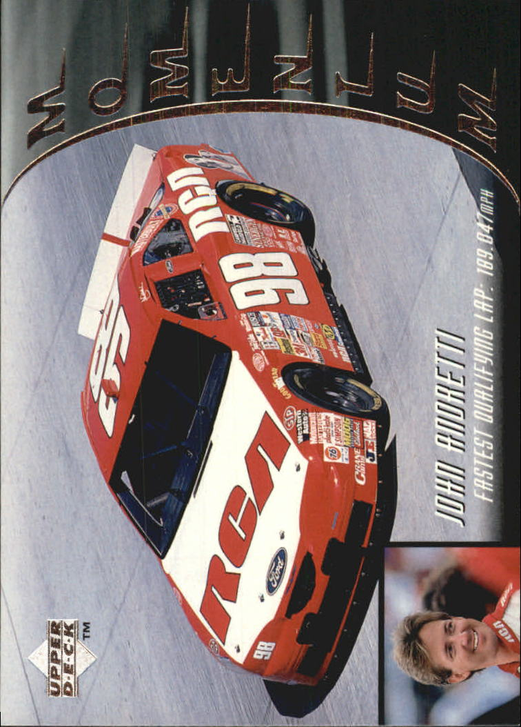 1997 Upper Deck Victory Circle #87 John Andretti's Car