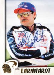 1997 Press Pass Autographs #4 D.Earnhardt PPP/VIP/ACTN
