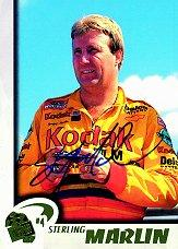 1997 Press Pass Autographs #8 Sterling Marlin VIP/ACTN
