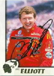 1997 Press Pass Autographs #20 Bill Elliott VIP/ACTN