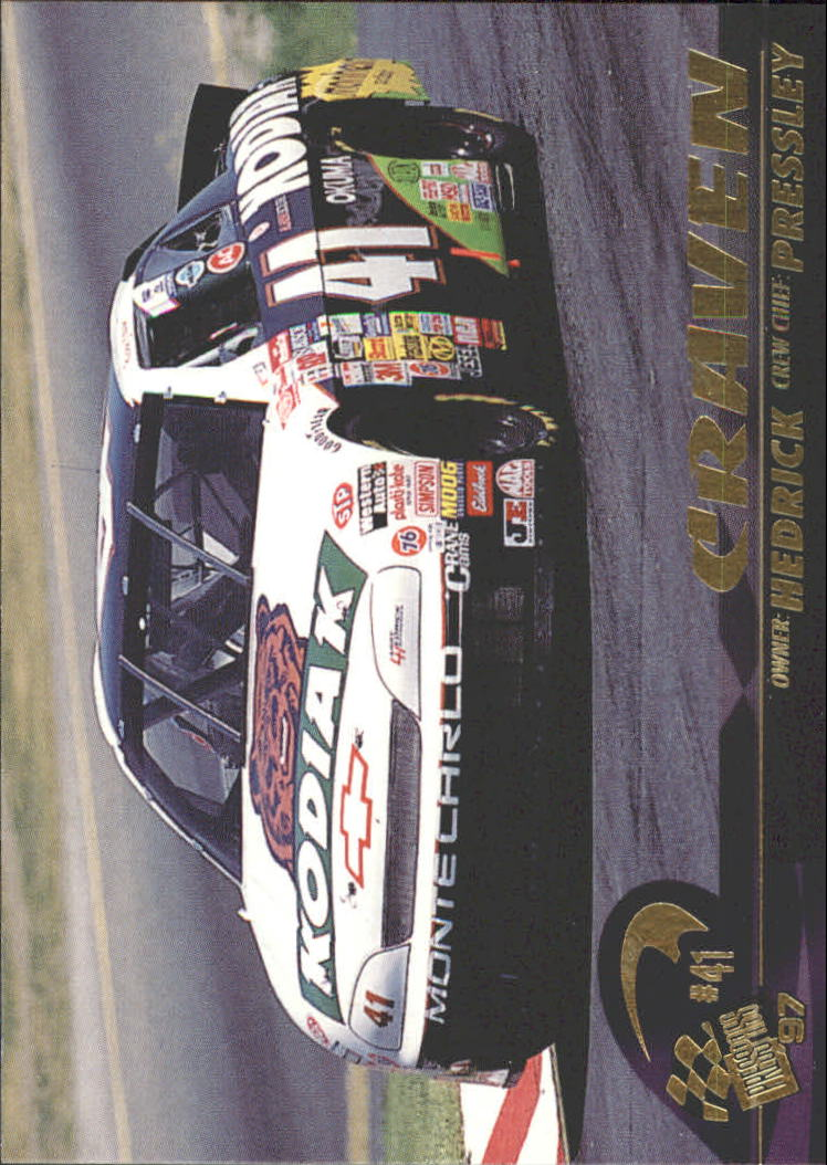 1997 Press Pass #41 Ricky Craven's Car