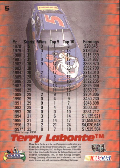 1997 Maxx #5 Terry Labonte