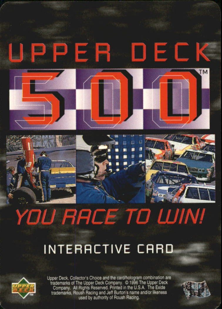 1997 Collector's Choice Upper Deck 500 #UD72 Jeff Burton's Car