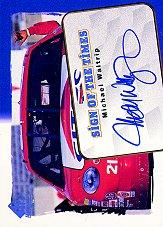 1998 SP Authentic Sign of the Times #S6 Michael Waltrip's Car