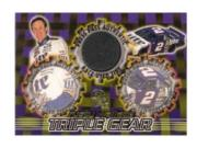 1998 Press Pass Triple Gear Burning Rubber #TG1 Rusty Wallace