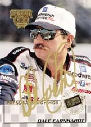1998 Press Pass Signings Gold #3 Dale Earnhardt/Press Pass Premium/VIP