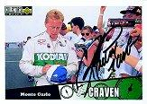 1998 Autograph Session Card #5 Ricky Craven '97 Col. Cho.