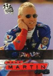 1999 Press Pass Skidmarks #2 Mark Martin