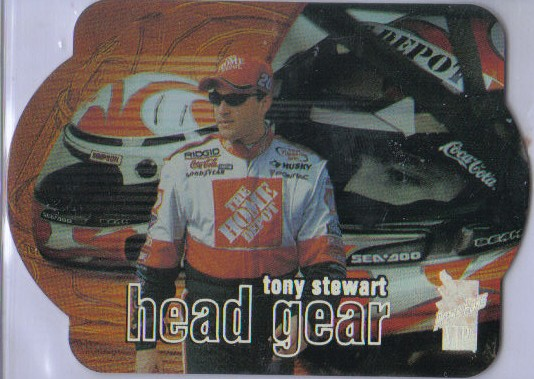2000 VIP Head Gear Explosives Laser Die Cuts #HG3 Tony Stewart