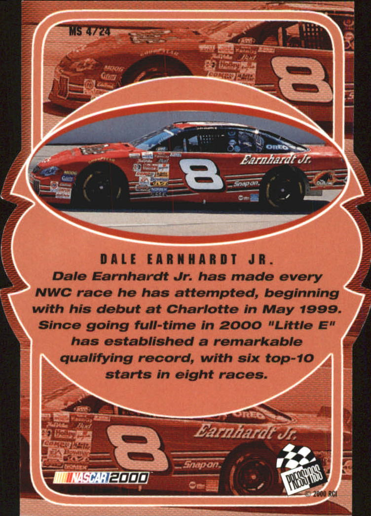 2000 VIP Making the Show #MS4 Dale Earnhardt Jr. back image