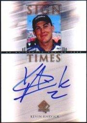 2000 SP Authentic Sign of the Times #KH Kevin Harvick