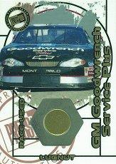 2000 Press Pass Optima Race Used Lugnuts Cars #LC15 Dale Earnhardt's Car