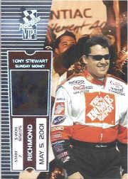 2001 VIP Explosives #27 Tony Stewart SM
