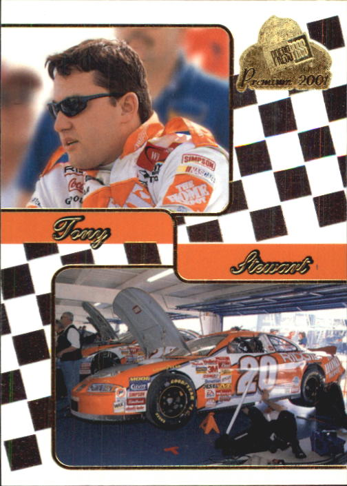 2001 Press Pass Premium #35 Tony Stewart