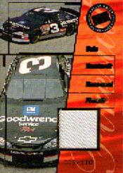 2001 Press Pass Premium Race Used Firesuit Cars #FC3 Dale Earnhardt