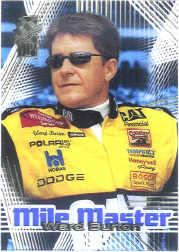 2001 VIP Mile Masters Transparent #MM7 Ward Burton