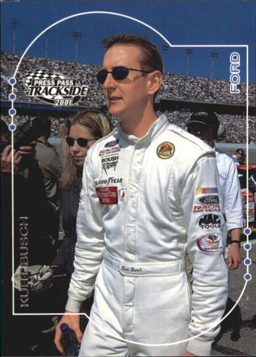 2001 Press Pass Trackside #18 Kurt Busch CRC