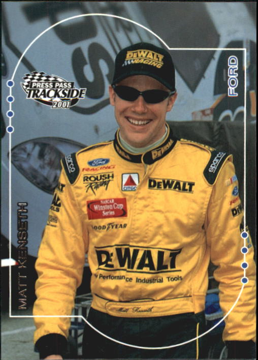 2001 Press Pass Trackside #22 Matt Kenseth