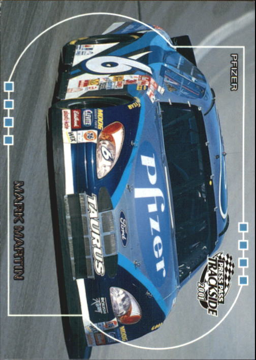 2001 Press Pass Trackside #42 Mark Martin's Car