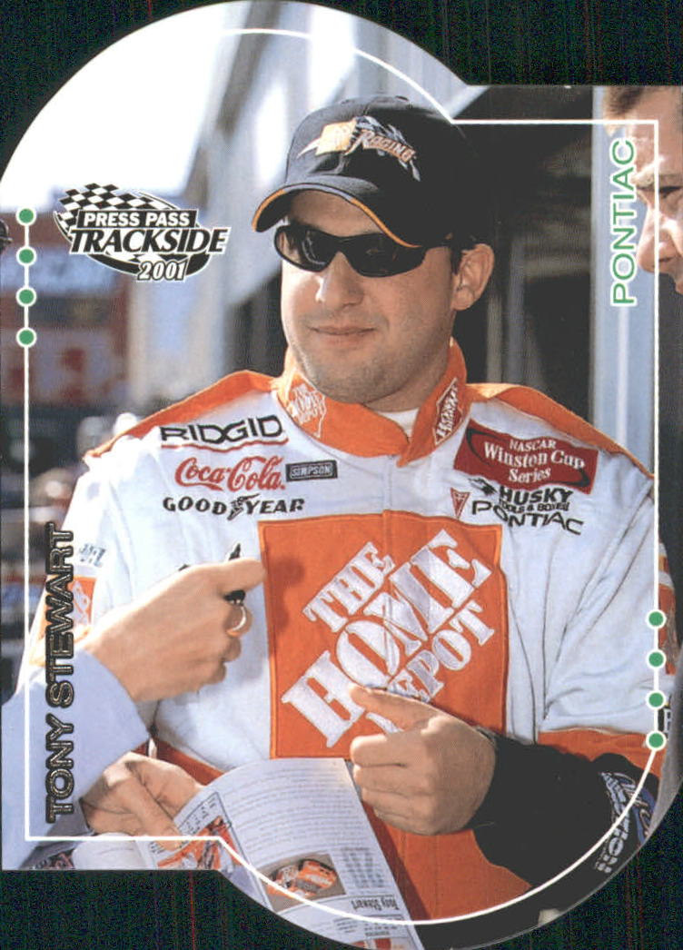 2001 Press Pass Trackside Die Cuts #15 Tony Stewart