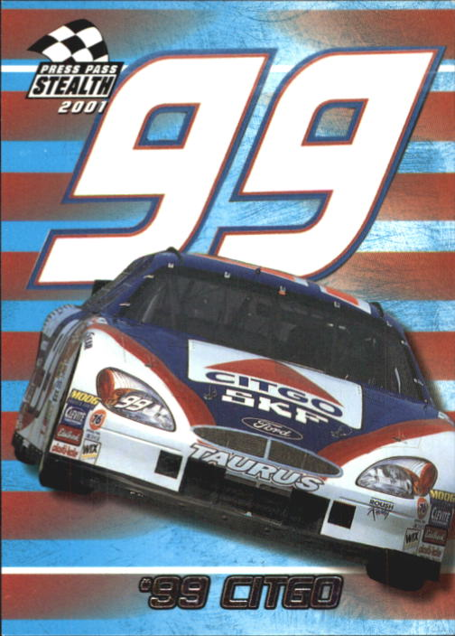 2001 Press Pass Stealth #44 Jeff Burton's Car