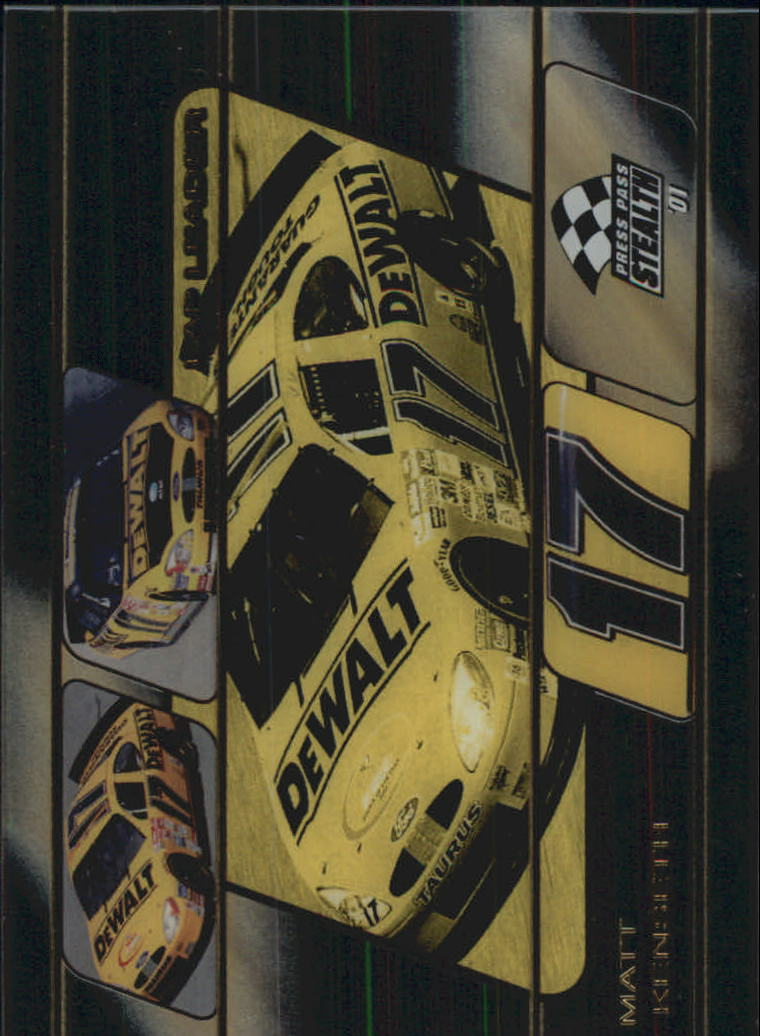 2001 Press Pass Stealth Lap Leaders Clear Cars #LL24 Matt Kenseth's Car