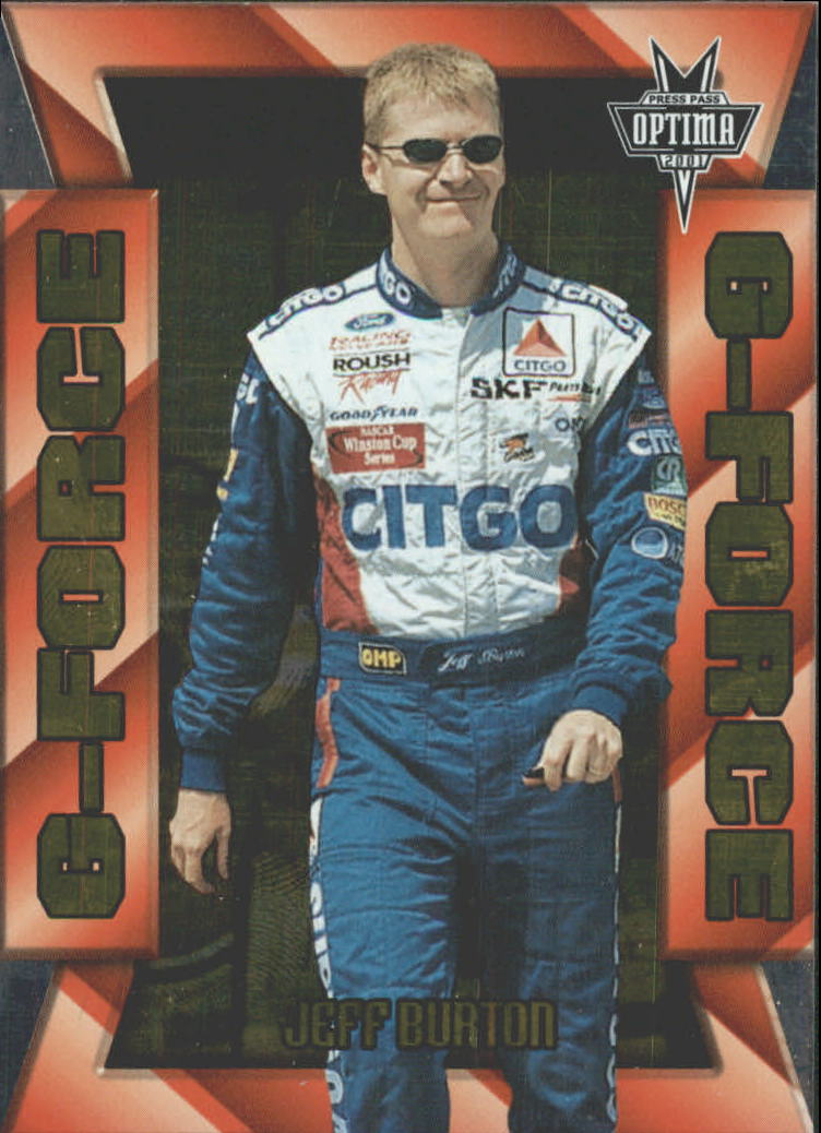 2001 Press Pass Optima G Force #GF1 Jeff Burton