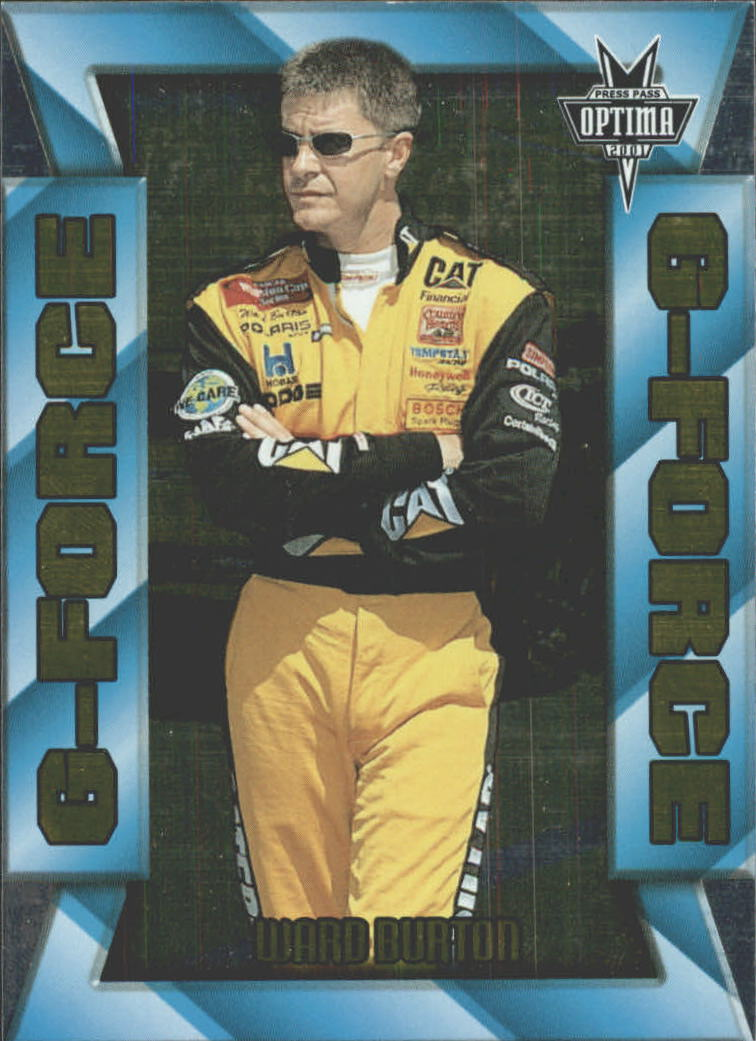 2001 Press Pass Optima G Force #GF2 Ward Burton
