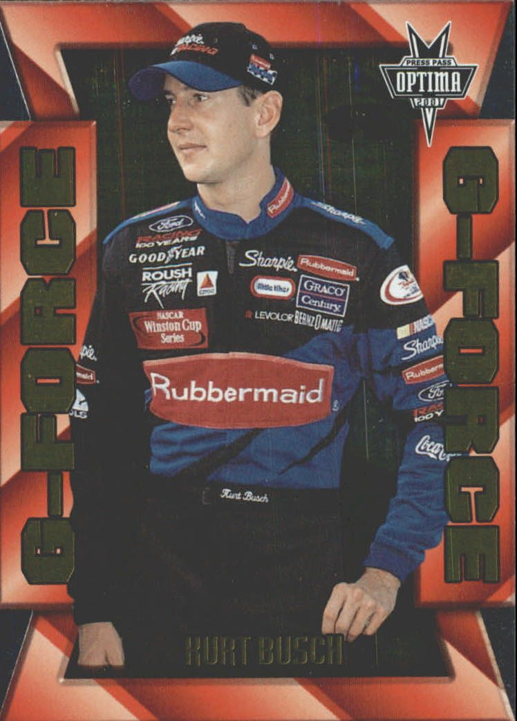 2001 Press Pass Optima G Force #GF3 Kurt Busch