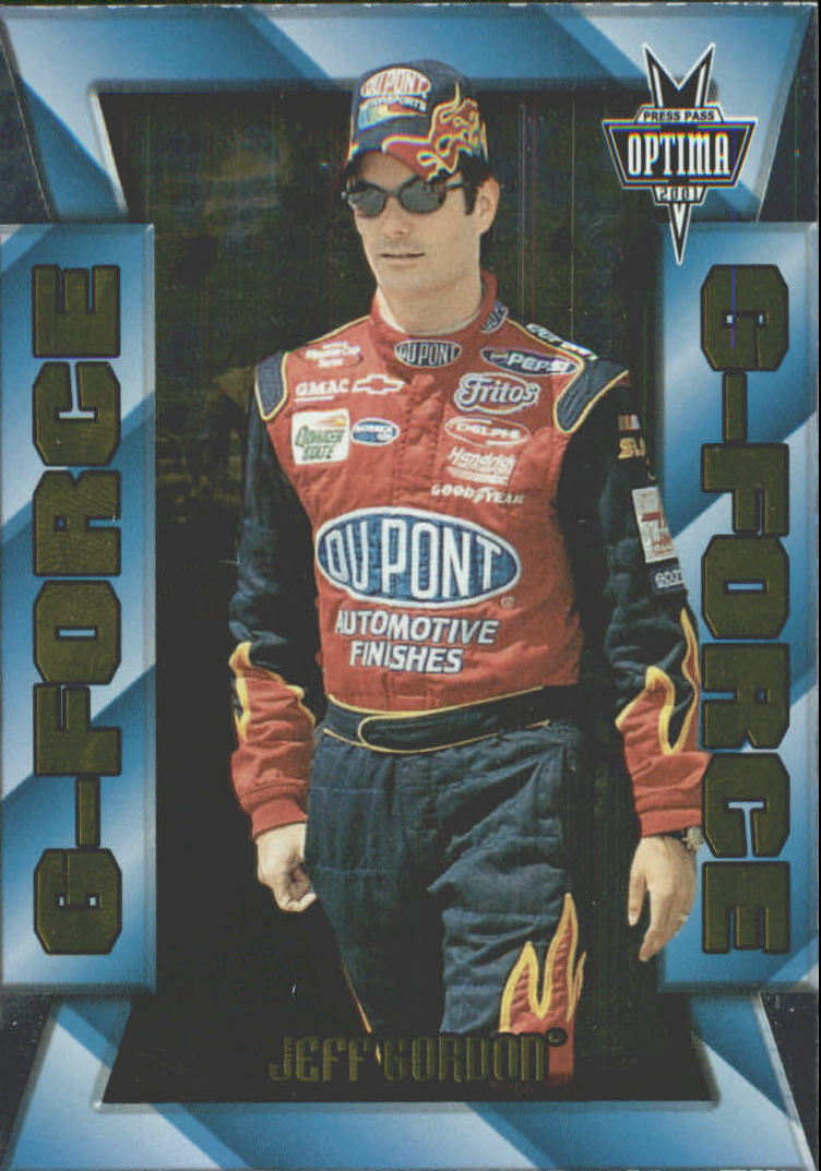 2001 Press Pass Optima G Force #GF5 Jeff Gordon