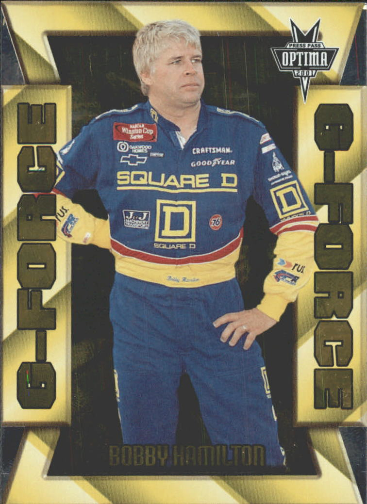2001 Press Pass Optima G Force #GF6 Bobby Hamilton
