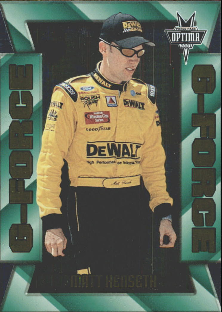 2001 Press Pass Optima G Force #GF9 Matt Kenseth