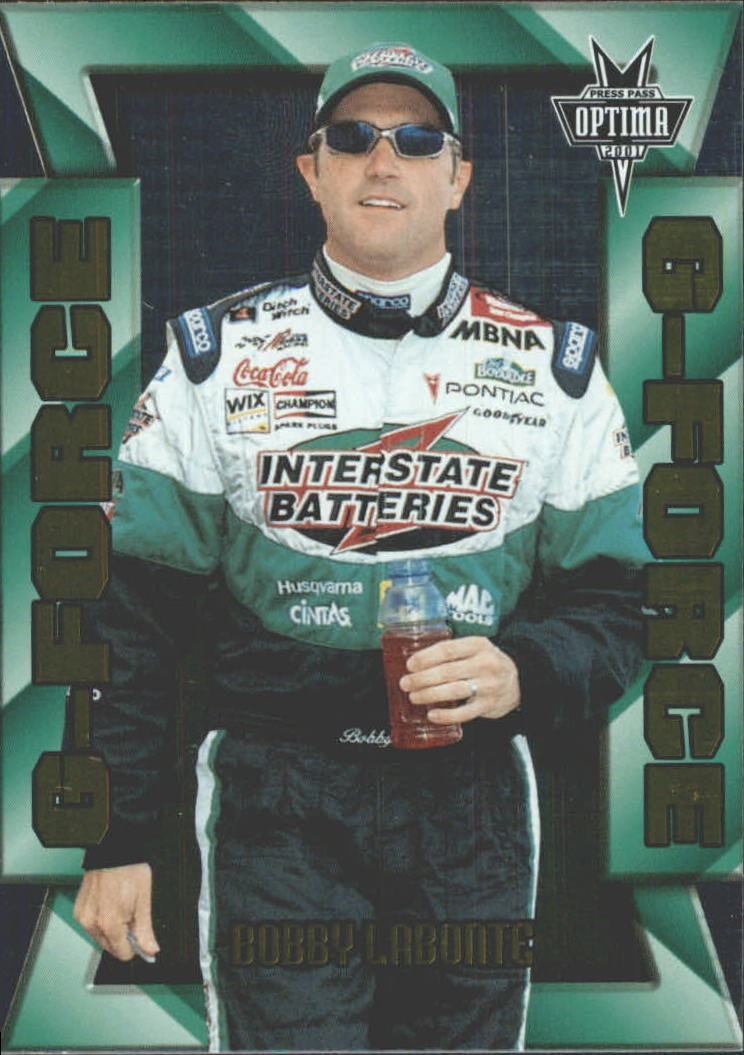 2001 Press Pass Optima G Force #GF10 Bobby Labonte
