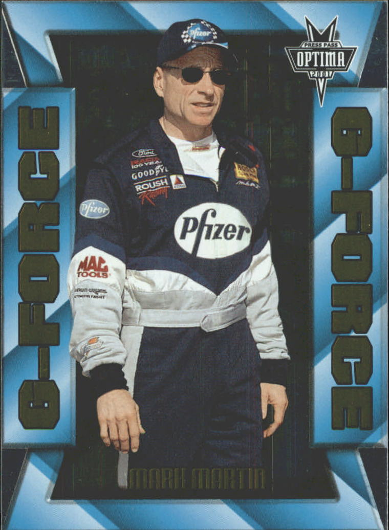 2001 Press Pass Optima G Force #GF13 Mark Martin