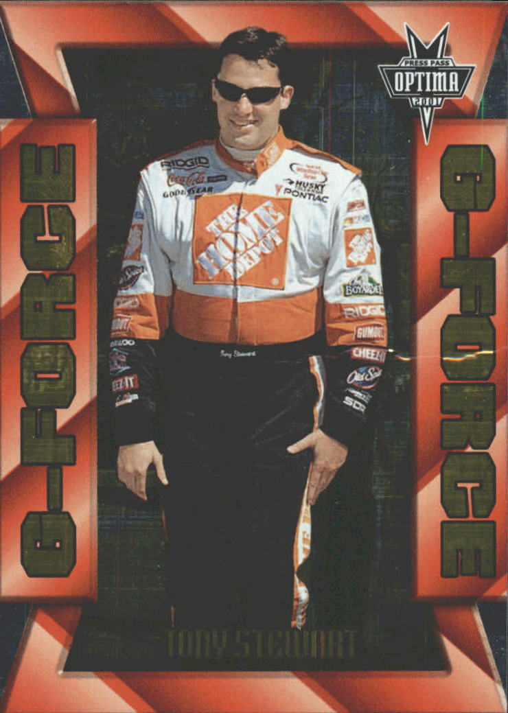 2001 Press Pass Optima G Force #GF25 Tony Stewart