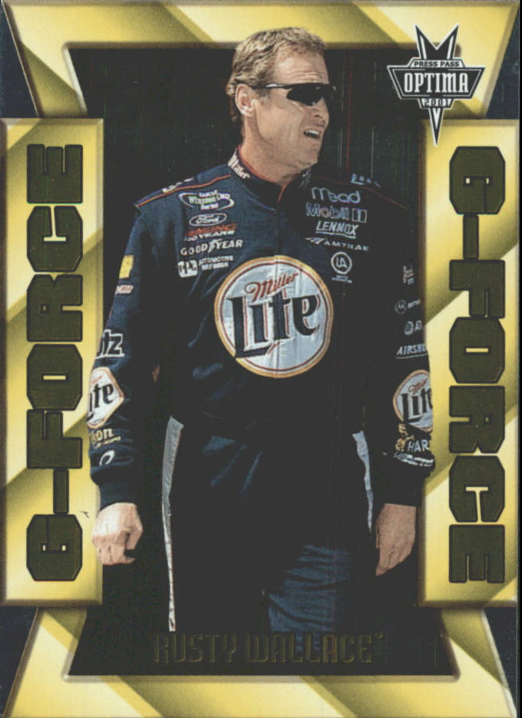 2001 Press Pass Optima G Force #GF26 Rusty Wallace