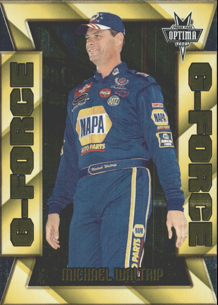 2001 Press Pass Optima G Force #GF27 Michael Waltrip