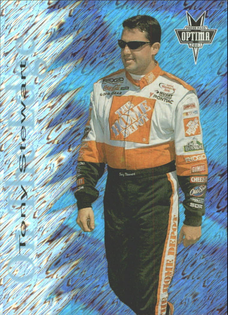 2001 Press Pass Optima On the Edge #OE8 Tony Stewart