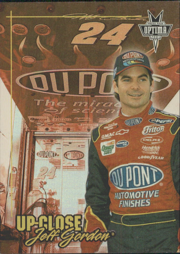 2001 Press Pass Optima Up Close #UC2 Jeff Gordon