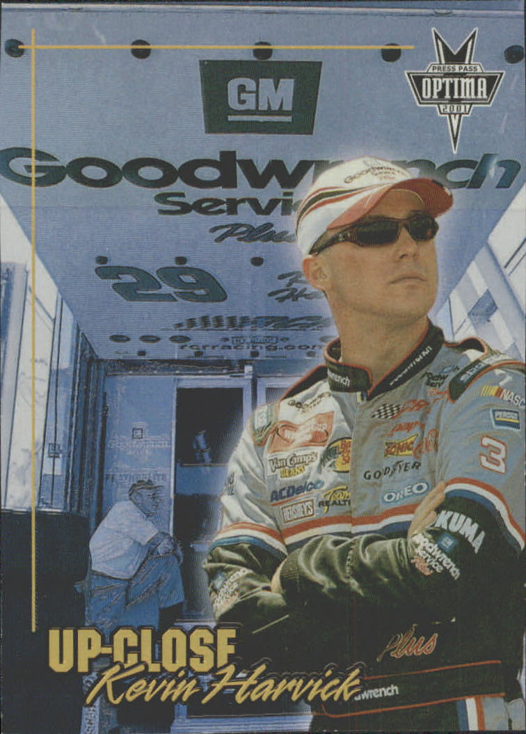 2001 Press Pass Optima Up Close #UC3 Kevin Harvick