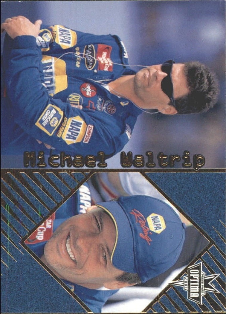 2001 Press Pass Optima Gold #27 Michael Waltrip