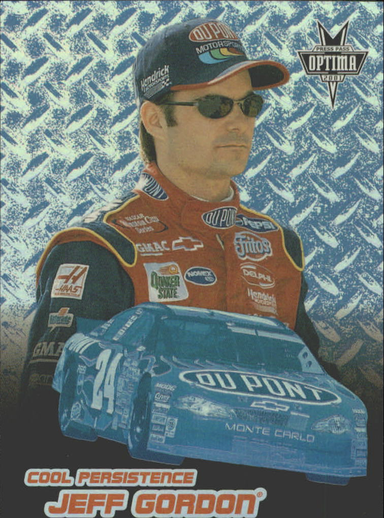 2001 Press Pass Optima Cool Persistence #CP4 Jeff Gordon