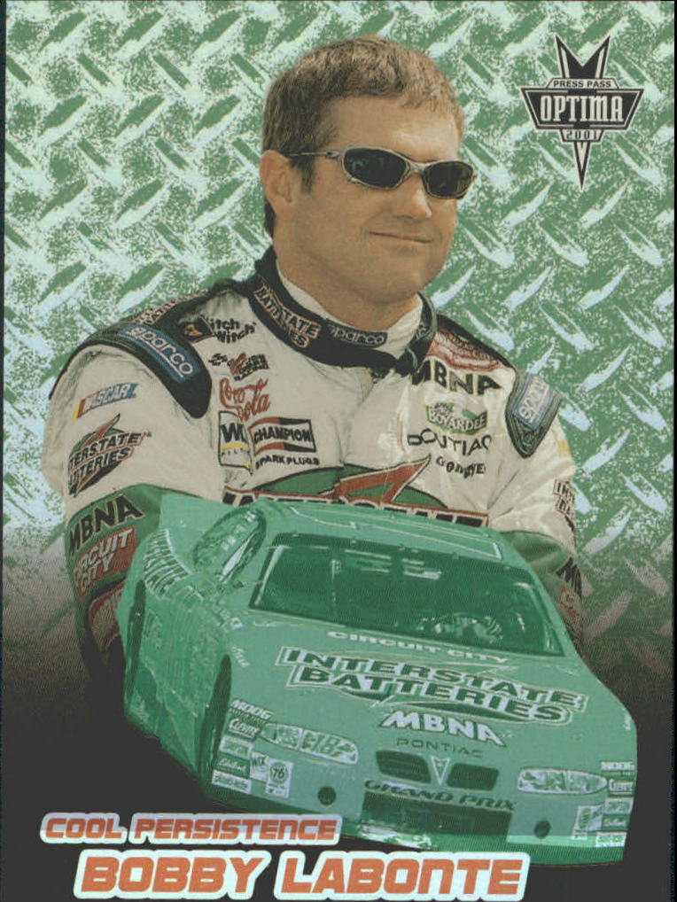 2001 Press Pass Optima Cool Persistence #CP7 Bobby Labonte