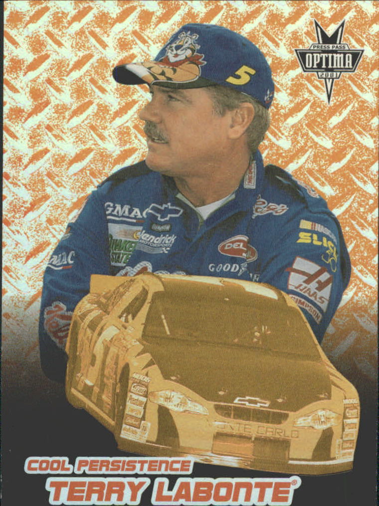 2001 Press Pass Optima Cool Persistence #CP8 Terry Labonte