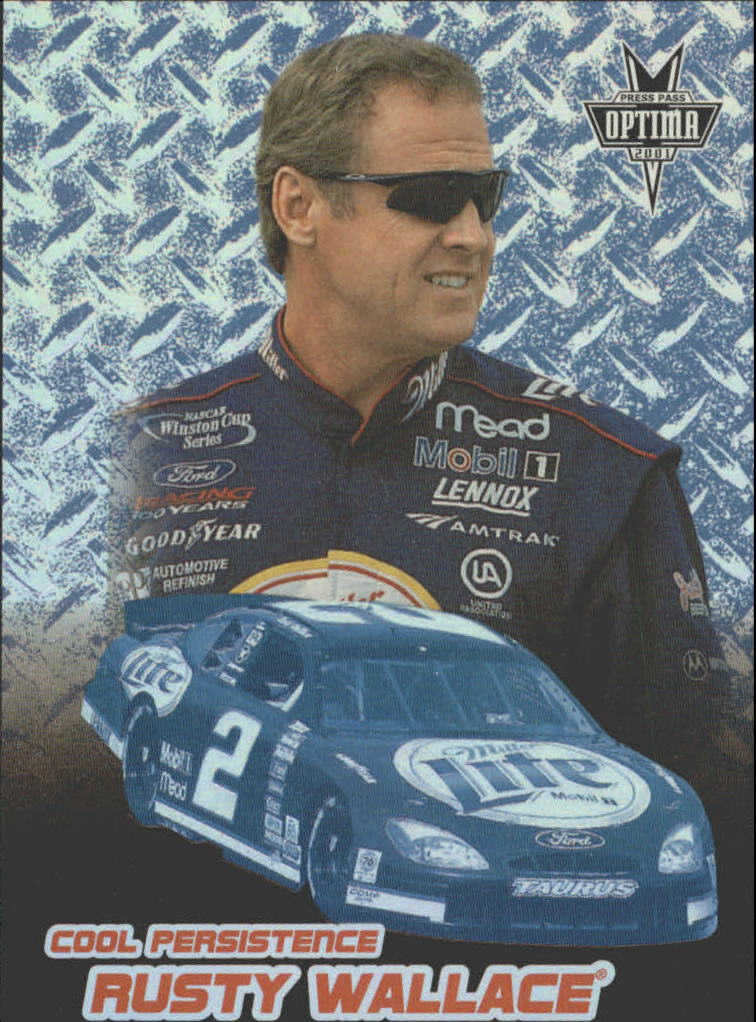 2001 Press Pass Optima Cool Persistence #CP12 Rusty Wallace