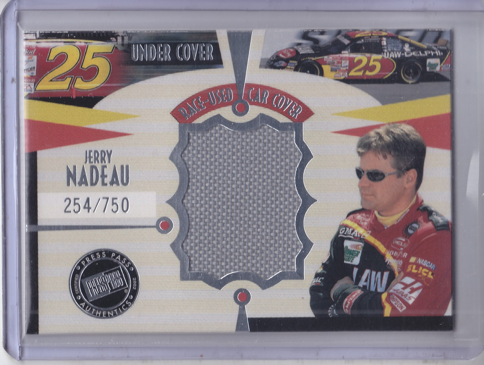 2002 Press Pass Eclipse Under Cover Drivers #CD2 Jerry Nadeau