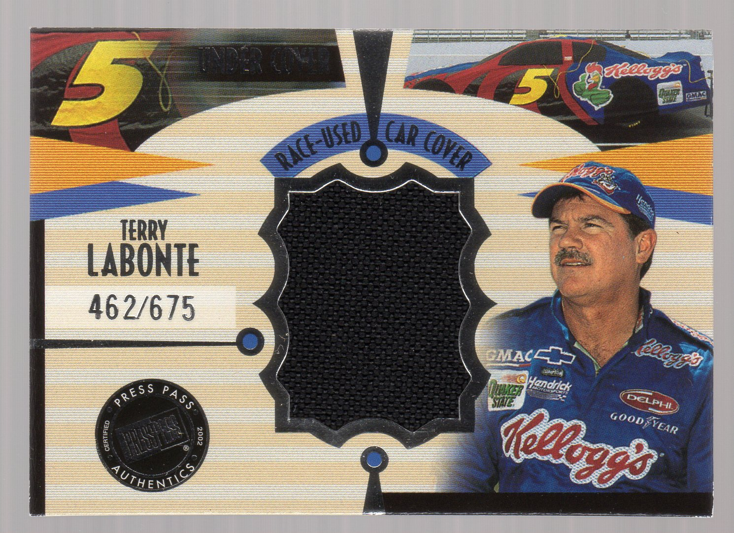 2002 Press Pass Eclipse Under Cover Drivers #CD4 Terry Labonte