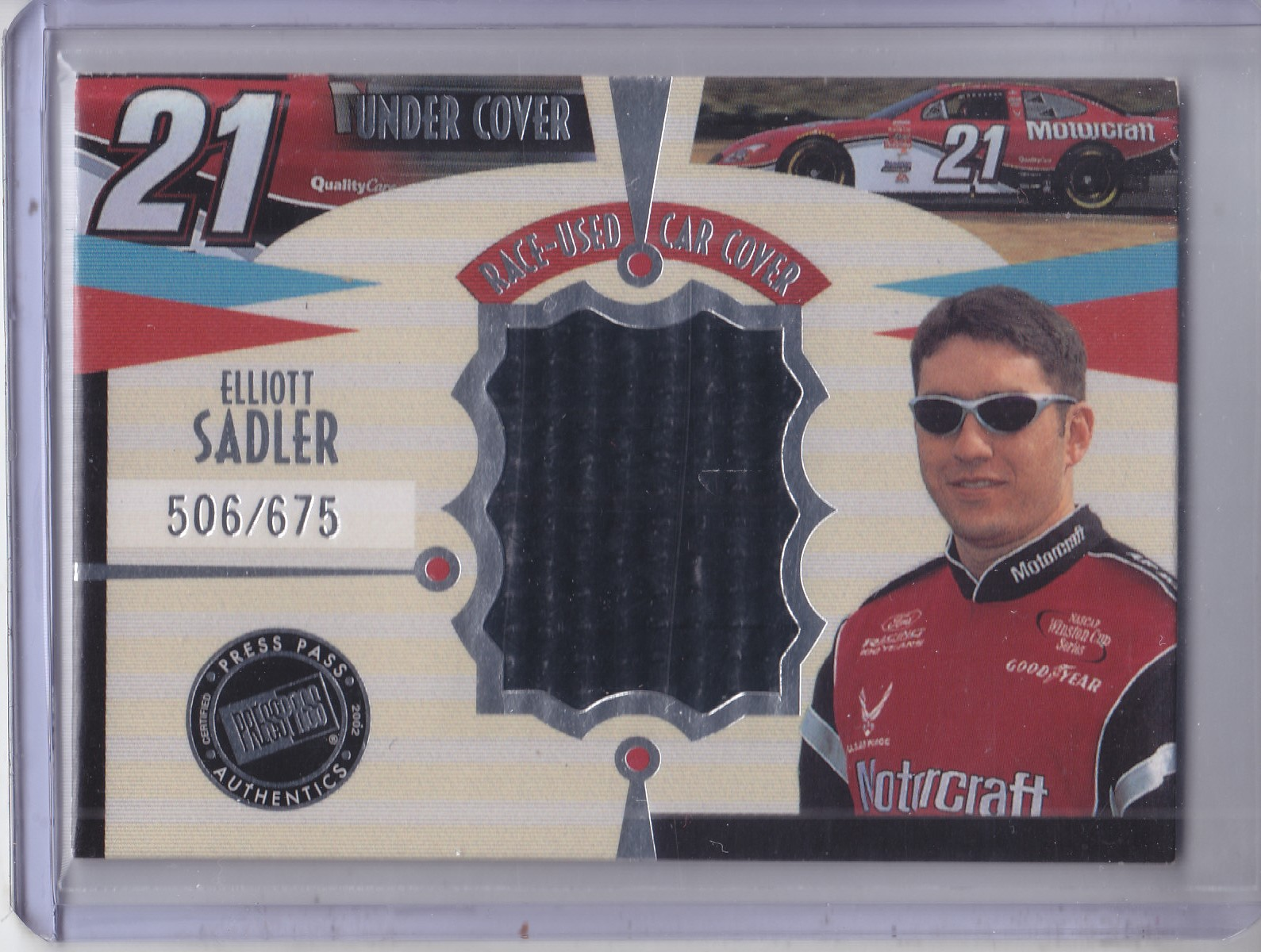 2002 Press Pass Eclipse Under Cover Drivers #CD8 Elliott Sadler