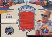 2002 Press Pass Eclipse Under Cover Drivers #CD10 Ricky Craven