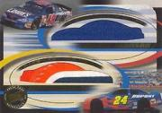 2002 Press Pass Eclipse Under Cover Double Cover #DC2 Jimmie Johnson/Jeff Gordon